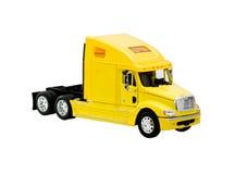Caminhão amarelo do brinquedo Imagens de Stock Royalty Free