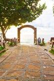 Caminho ao mar fotografia de stock royalty free