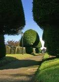 Caminho através do cemitério Fotos de Stock Royalty Free