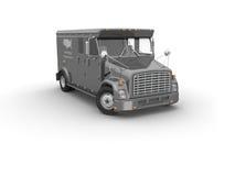 Caminhão blindado Fotografia de Stock Royalty Free