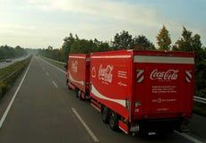 Caminhão da coca-cola Fotos de Stock Royalty Free