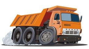 Caminhão de descarga dos desenhos animados do vetor Fotos de Stock Royalty Free