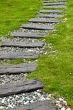 Caminho de madeira do piso Fotos de Stock