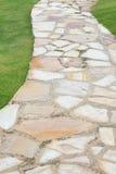 Caminho de pedra da natureza do jardim Foto de Stock