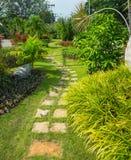 Caminho de pedra do jardim Fotos de Stock Royalty Free
