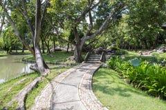 Caminho de pedra no jardim Fotos de Stock Royalty Free