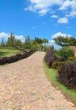 Caminho de pedra no jardim imagem de stock royalty free