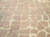 Caminho de pedra sujo velho foto de stock