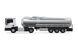 Caminhão de petroleiro do combustível Foto de Stock