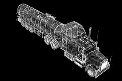Caminhão de petroleiro isolado Imagens de Stock