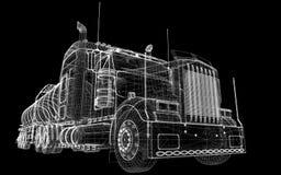 Caminhão de petroleiro isolado Foto de Stock Royalty Free