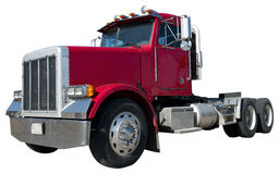 Caminhão de reboque do trator de 18 veículos com rodas isolado no branco Fotografia de Stock