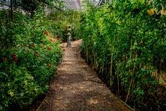 Caminho do cascalho no jardim Fotografia de Stock Royalty Free