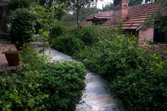 Caminho do jardim Imagem de Stock Royalty Free