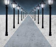 Caminho iluminado Fotografia de Stock Royalty Free