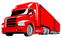 Caminhão isolado no branco Imagens de Stock