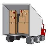 Caminhão movente do internamento Fotos de Stock Royalty Free