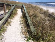Caminho na areia Fotografia de Stock