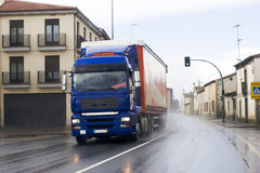 Caminhão urbano do frete Foto de Stock