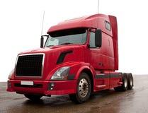 Caminhão vermelho Fotos de Stock Royalty Free