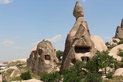 Camini del fatato di Cappadocıa Fotografie Stock Libere da Diritti