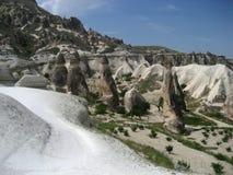 Camini leggiadramente di Cappadocia Fotografia Stock