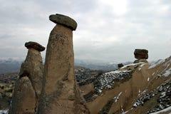 Camini leggiadramente in Urgup, Cappadocia Fotografie Stock
