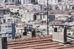 Camini sul tetto Immagini Stock