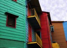 caminito五颜六色的房子 免版税库存照片