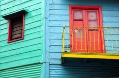 caminito五颜六色的房子 免版税库存图片