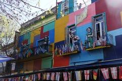 Caminito街道在布宜诺斯艾利斯 图库摄影