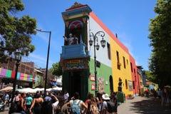 Caminito, одна из самых известных улиц в квартальном Ла Boca в Буэносе-Айрес ареальных стоковые изображения