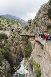 Caminito De Rey, Hiszpania - fotografia stock
