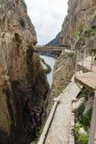 Caminito De Rey, Hiszpania - zdjęcie royalty free