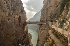 Caminito. Del Rey royalty free stock photography