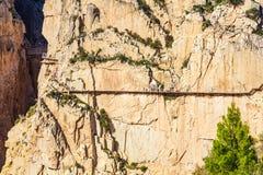 Caminito Del Rey berg Fotografering för Bildbyråer