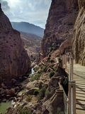 Caminito del Rey (Espanha) imagem de stock