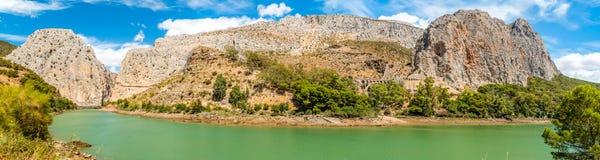 Caminito del Rey i Malaga royaltyfri bild