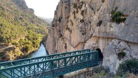 Caminito del Rey i Malaga (Spanien) royaltyfri foto