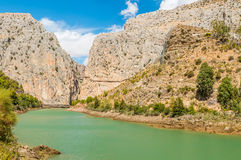 Caminito del Rey in Malaga Royalty Free Stock Photo