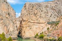 Caminito del Rey in Malaga Royalty Free Stock Images