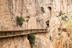 Caminito del Rey. Mountain in Caminito del Rey Royalty Free Stock Images