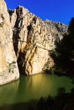 Caminito del Rey over Reservoir at Chorro Royalty Free Stock Photo