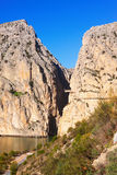 Caminito del Rey  in rocky  canyon Stock Images