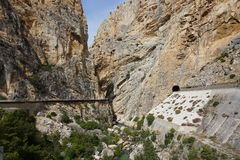 Caminito del Rey. In Spain Stock Images