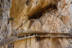 Caminito del Rey. In Spain Stock Photography