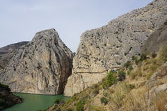 Caminito del Rey. In Spain Royalty Free Stock Images