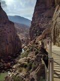 Caminito del Rey (Spanien) fotografering för bildbyråer