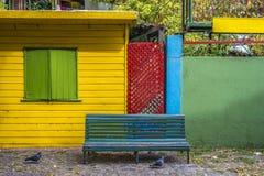 Caminito gata i Buenos Aires, Argentina. arkivbilder