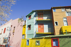 Caminito, het district van La Boca, Buenos aires, Argentinië Stock Afbeelding